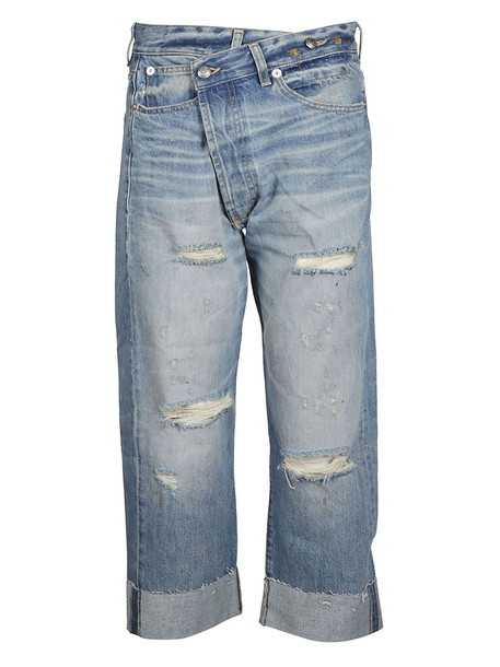 R13 Asymmetric Distressed Jeans