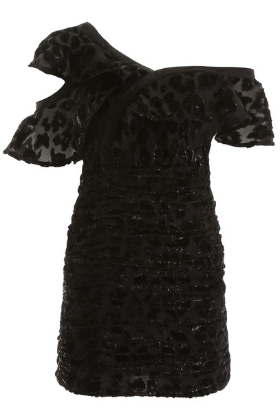 self-portrait Devore Leopard Mini Dress
