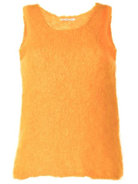 Yohji Yamamoto Pre-Owned textured sleeveless tank top in yellow