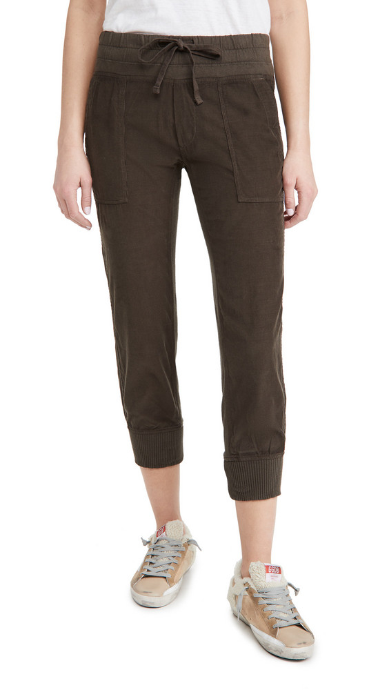 James Perse Corduroy Mixed Media Pants in green