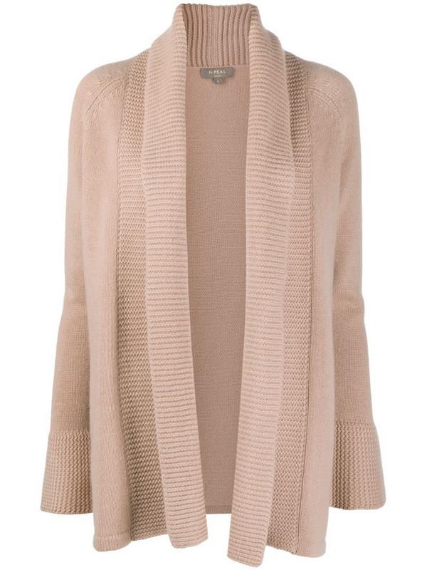 N.Peal shawl collar cardigan in neutrals