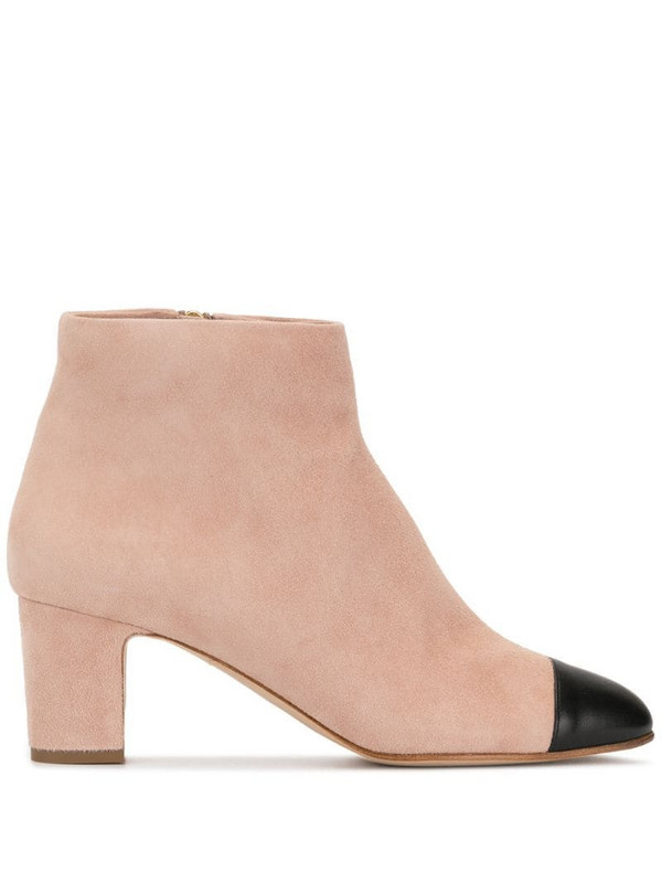 Rupert Sanderson contrast ankle boots in white