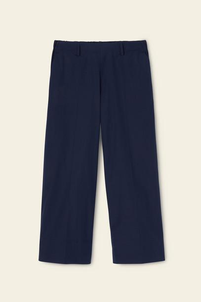 Mansur Gavriel Pull On Cotton Poplin Pant - Blu