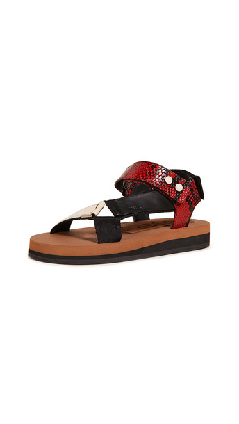 Joseph Inca Sporty Sandals in nero
