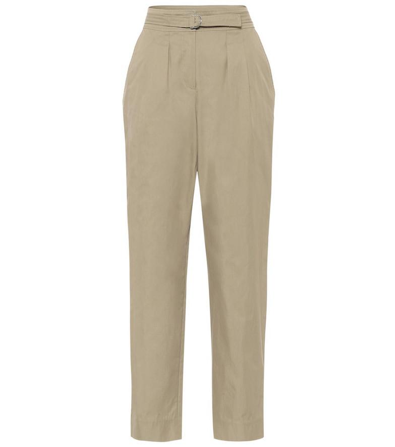 A.P.C. Sarah cotton-blend gabardine pants in beige
