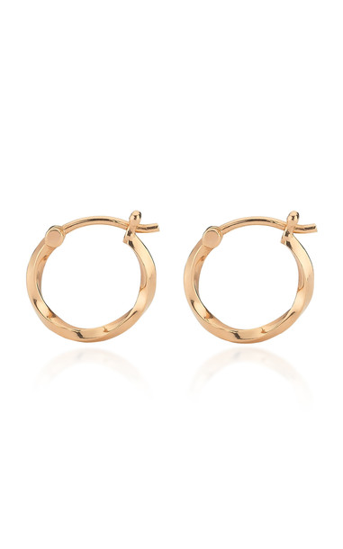 TULLIA Small Twist 14K Rose Gold Hoop Earrings