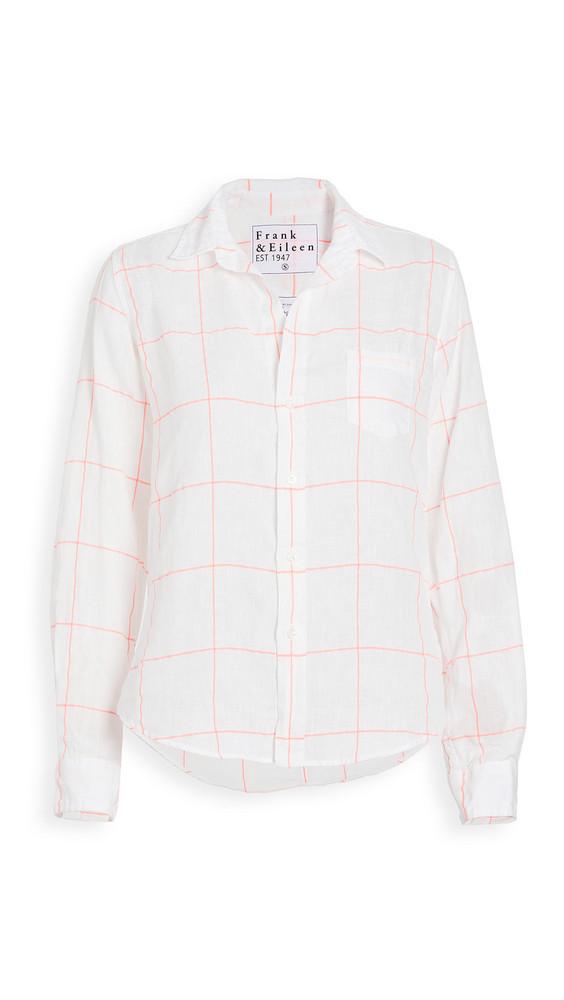 Frank & Eileen Womens Button Down Linen Shirt in pink