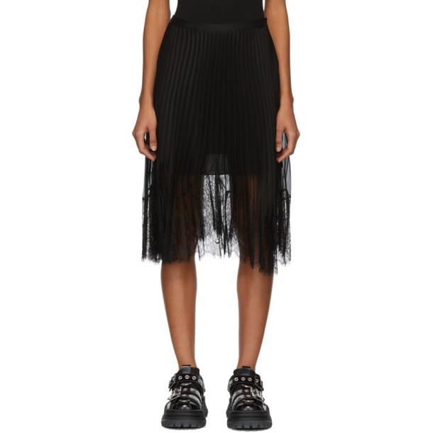 McQ Alexander McQueen Black Pleated Skirt
