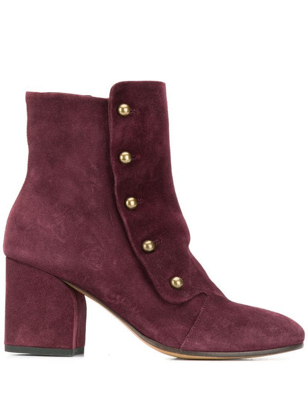 Officine Creative Lou ankle boots in red