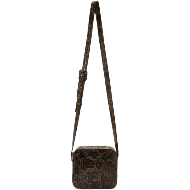 A.P.C. A.P.C. Brown Snake Louisette Bag