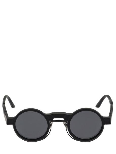 KUBORAUM BERLIN N3 Matte Black Acetate Round Sunglasses