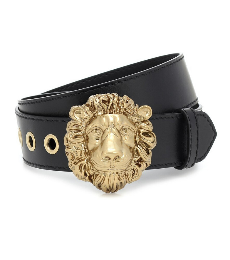 Gucci Leather belt in black