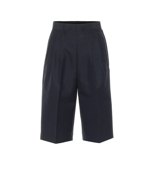 Maison Margiela Wool and angora shorts in blue