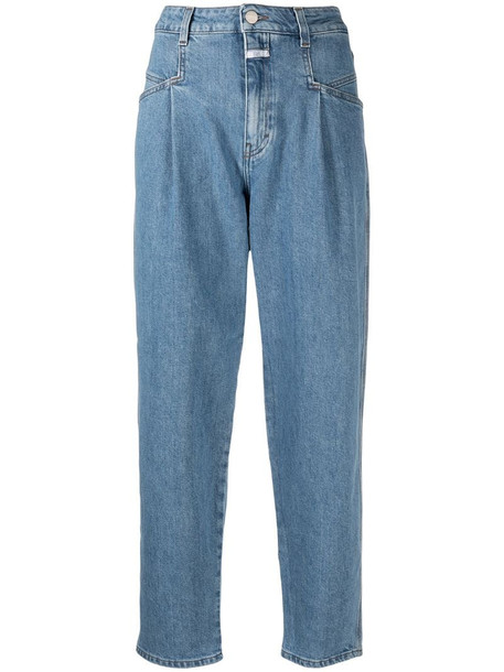 Closed high rise tapered-leg jeans in blue