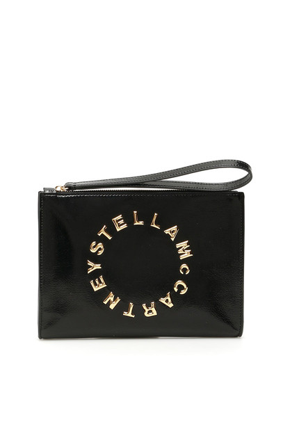 Stella McCartney Logo Zip Pouch in black