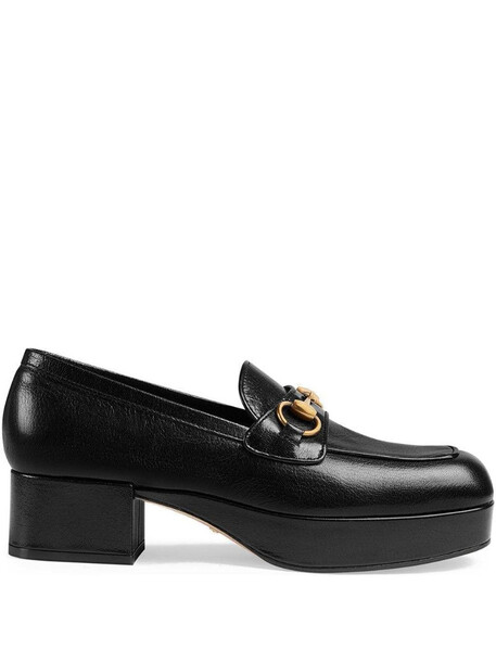 Gucci Horsebit platform loafers in black