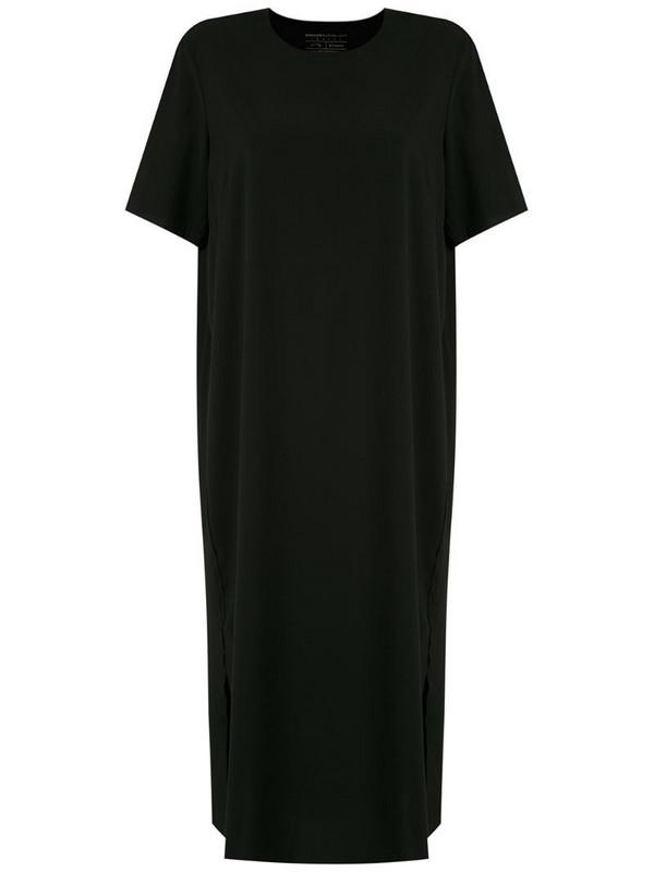 Osklen side slit T-shirt dress in black