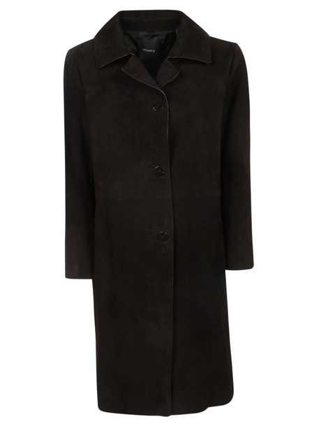 Theory Single Breasted Coat in black