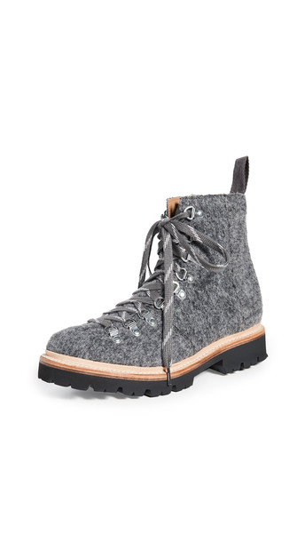 Grenson Nanette Combat Boots in grey