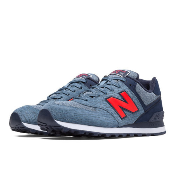 New Balance 574 Sweatshirt Men's 574 Shoes - Blue Aster, Navy, Red (ML574TTD)