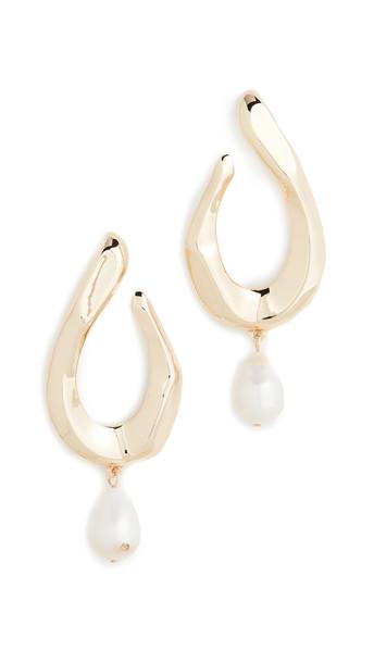 BaubleBar Petra Pearl Drop Earrings in gold / ivory