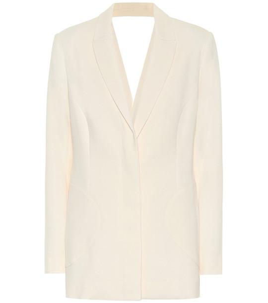 Jonathan Simkhai Cut-out crêpe blazer in white