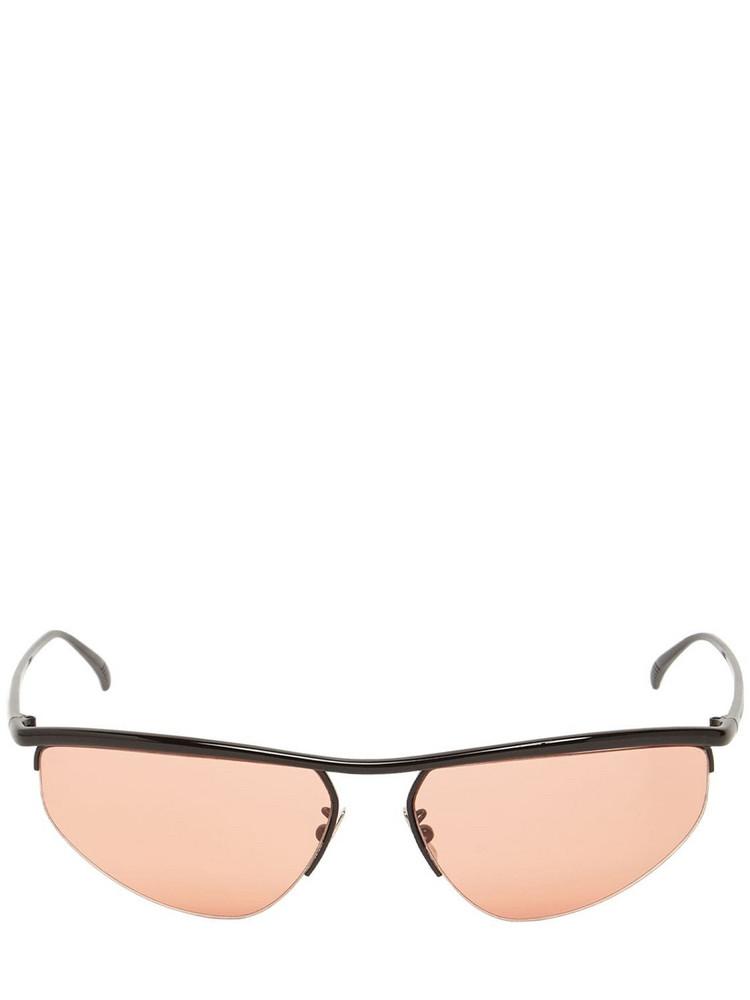 BOTTEGA VENETA Bv1091s Oval Metal Sunglasses in black / orange