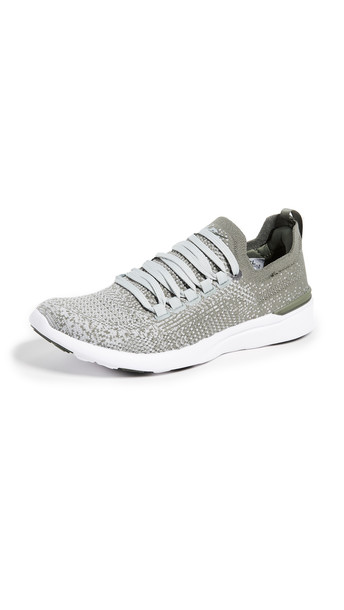 APL: Athletic Propulsion Labs TechLoom Breeze Sneakers in green / white