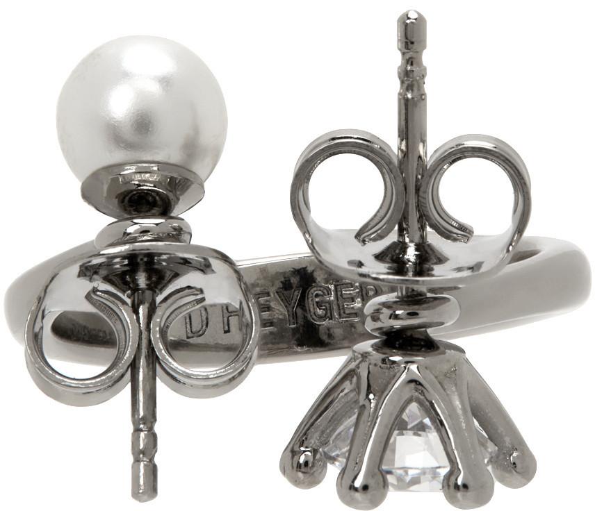 D'heygere Toi Et Moi Ring in silver / white