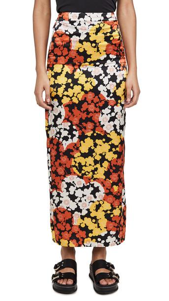 McQ - Alexander McQueen Back Slit Skirt in yellow
