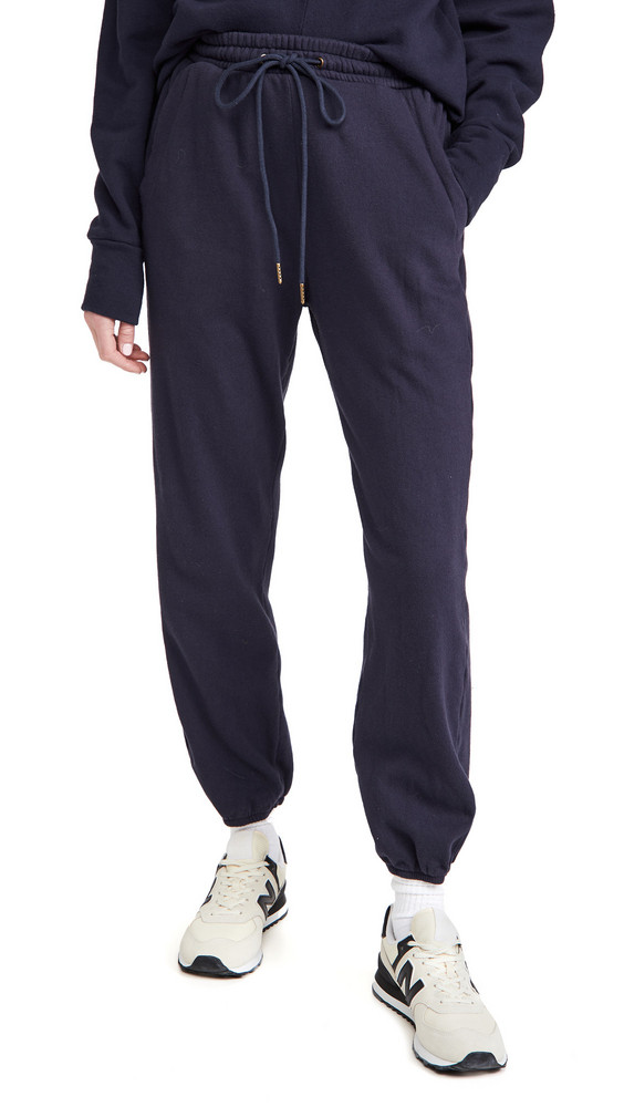 Citizens of Humanity Laila Casual Fleece Pants in navy