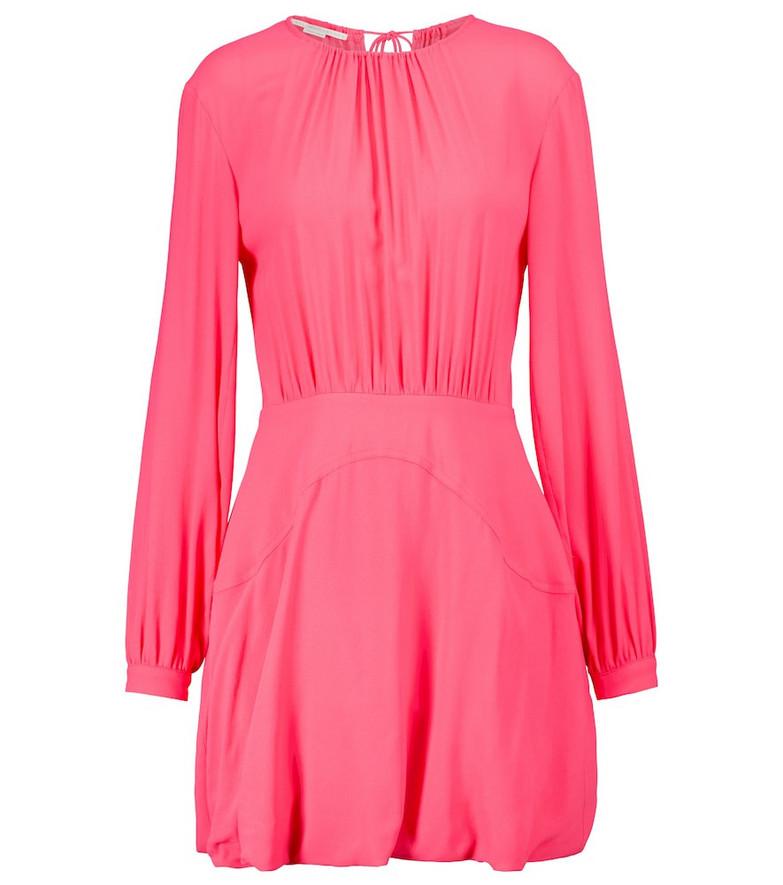 Stella McCartney Amanda gathered minidress in pink