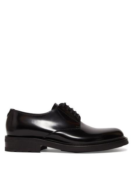 Saint Laurent - Army Patent Leather Derby Shoes - Womens - Black