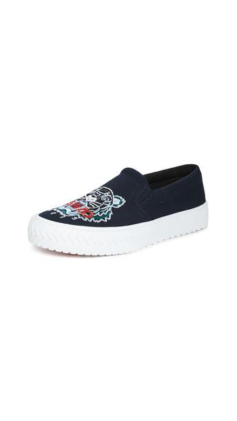 KENZO K-Skate Slip On Tiger Sneakers in blue