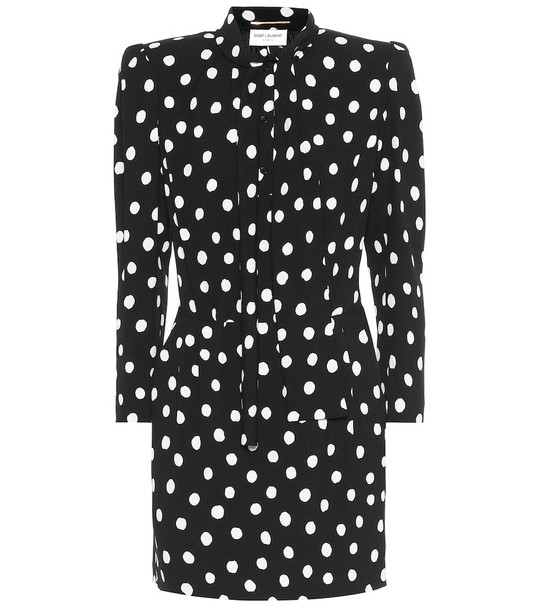 Saint Laurent Dotted minidress