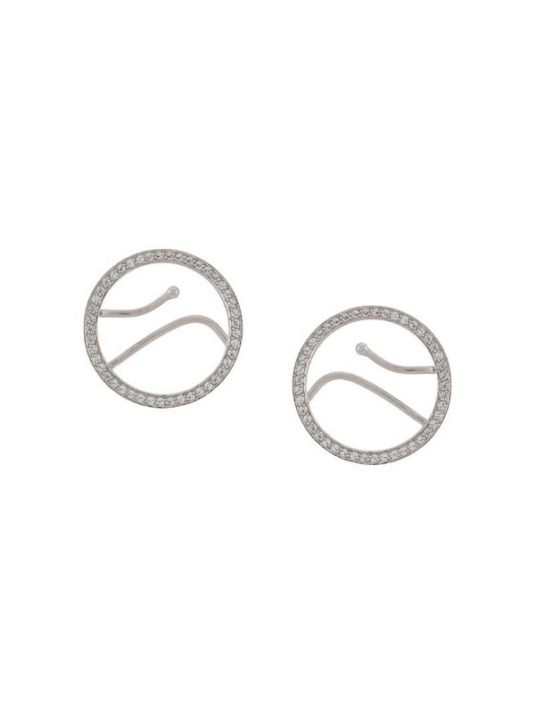 Alan Crocetti embellished hoop cuff earring in silver