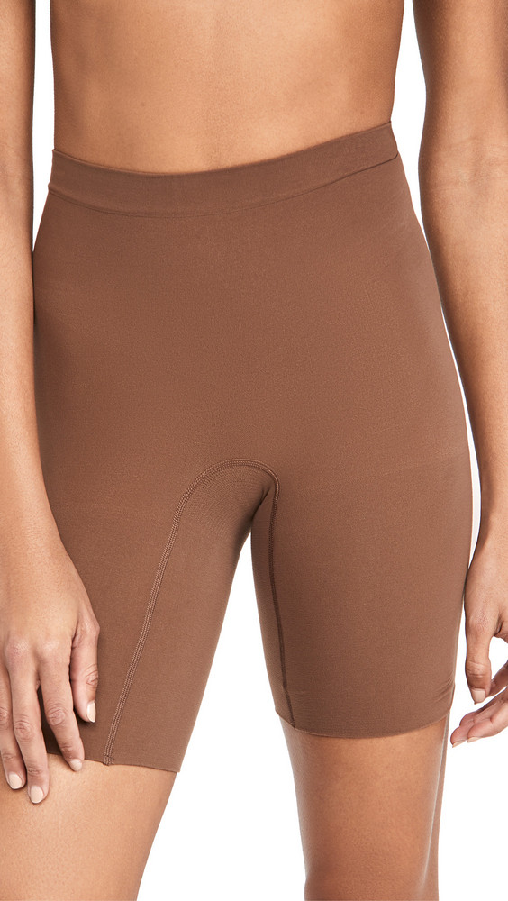 SPANX Power Shorts in brown