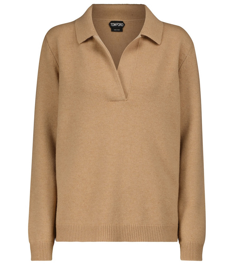 Tom Ford Wool and cashmere sweater in brown