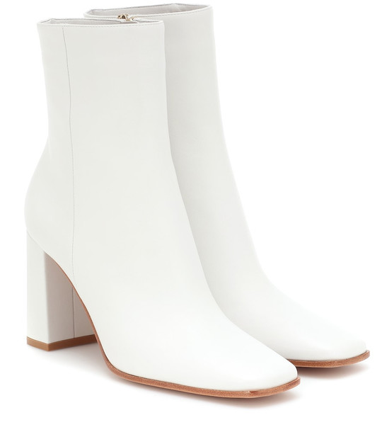 Gianvito Rossi Leather ankle boots in white