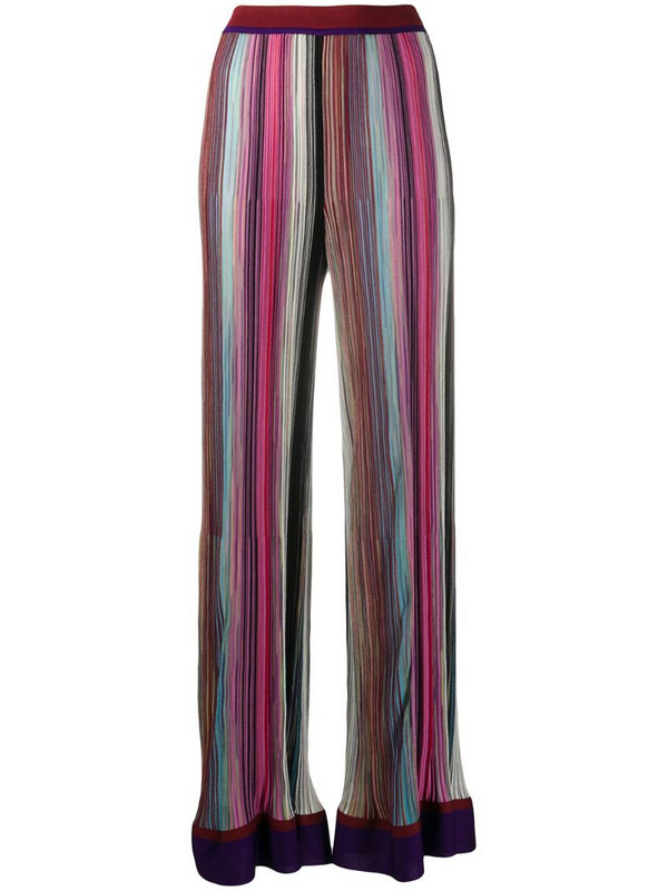 Missoni multicolour flared trousers in pink