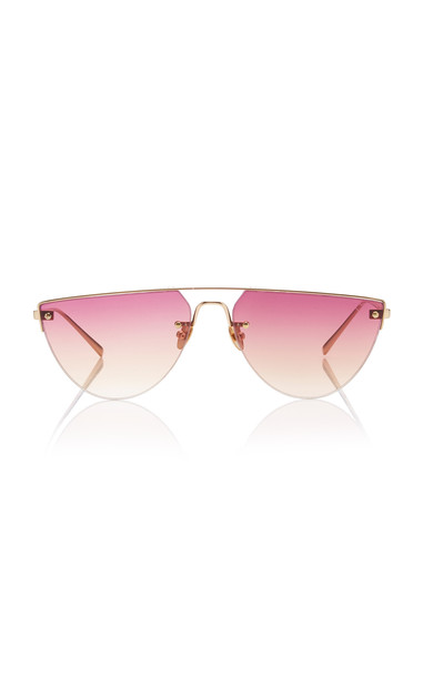 Spektre Corsaro D-Frame Gold-Tone Sunglasses in pink