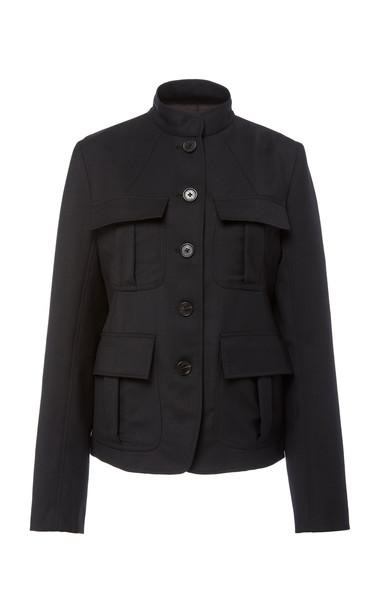 NILI LOTAN Cambre Wool-Blend Jacket in black
