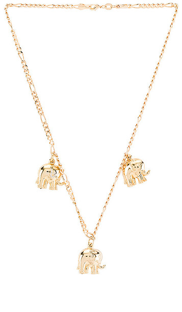 joolz by Martha Calvo Just My Luck Necklace in Metallic Gold