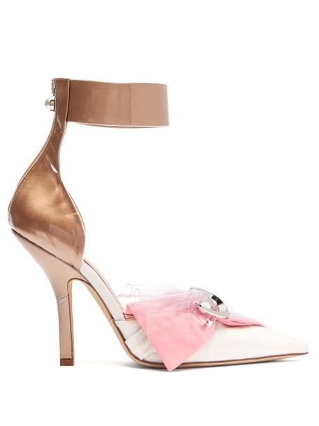 Midnight 00 - Corset Cotton, Satin & Pvc Pumps - Womens - Pink White