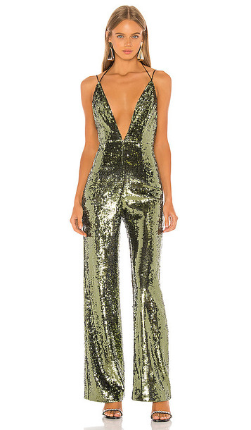 Camila Coelho Callie Jumpsuit in Olive in green