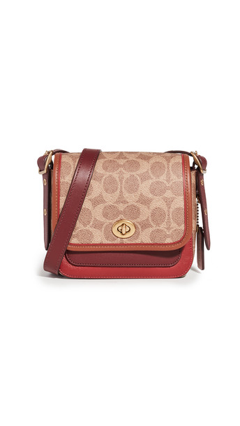 Coach 1941 Rambler Crossbody 16 Bag in tan / multi