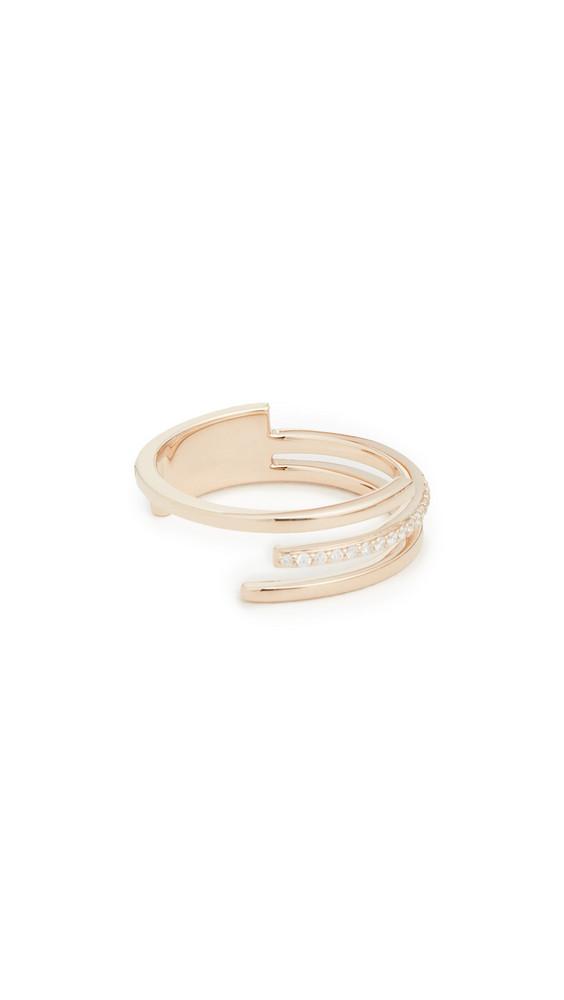 LANA JEWELRY 14k 3 Band Diamond Ring in yellow