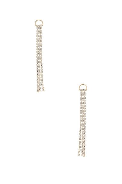 SHASHI Sparkle Drop Earring in gold / metallic