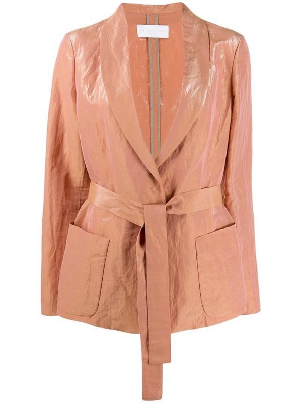 Fabiana Filippi tie waist blazer in pink