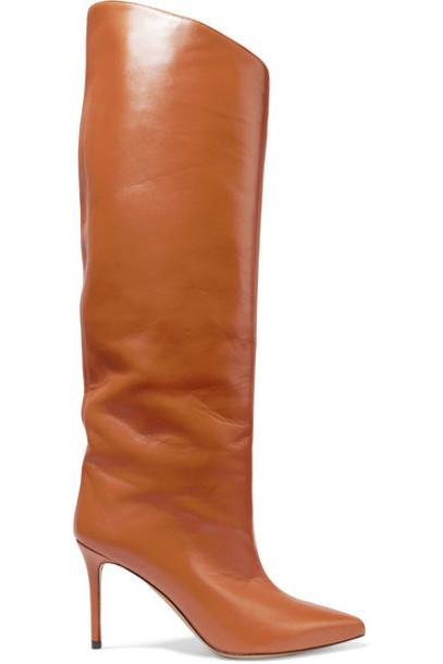 Alexandre Vauthier - Alex Leather Knee Boots - Tan